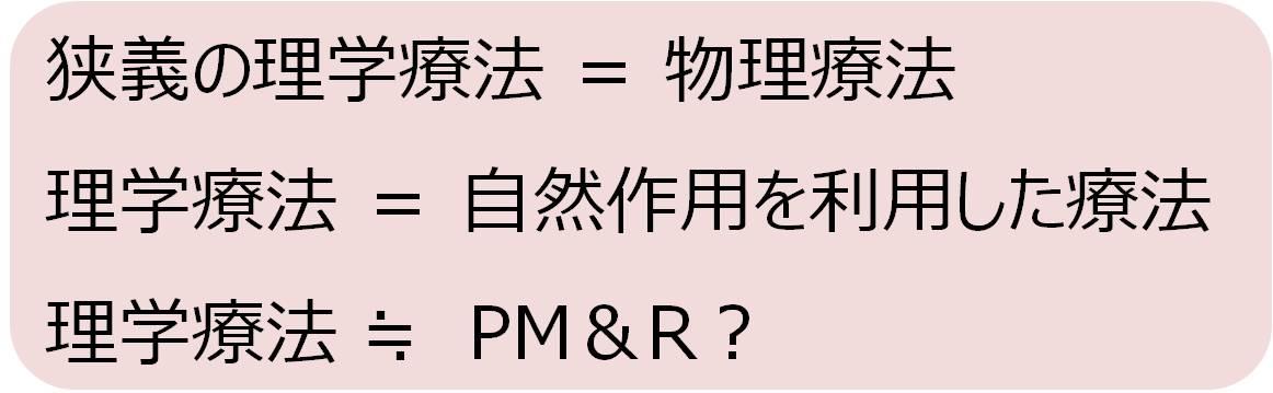 理学療法 リハビリテーション PM&R