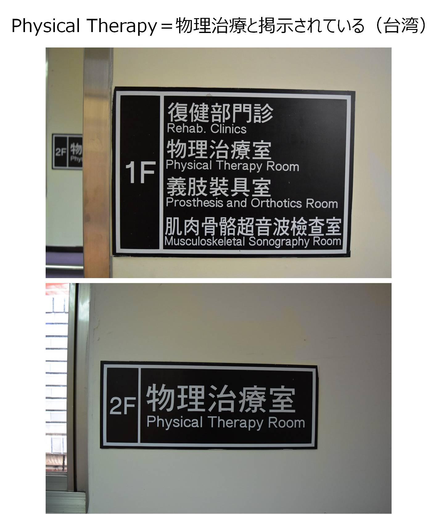 理学療法 物理療法 翻訳