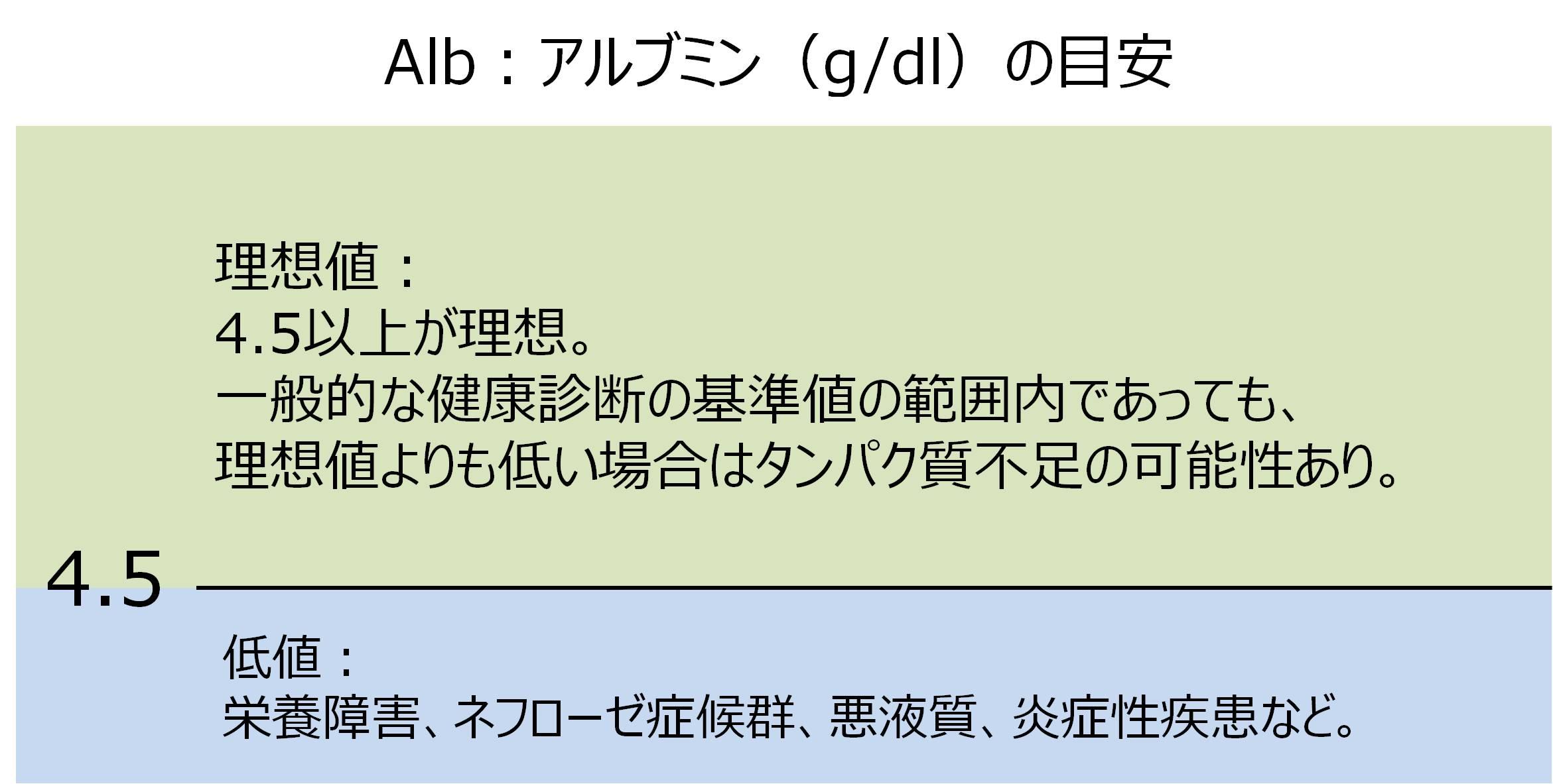 血液検査 Alb アルブミン 基準値