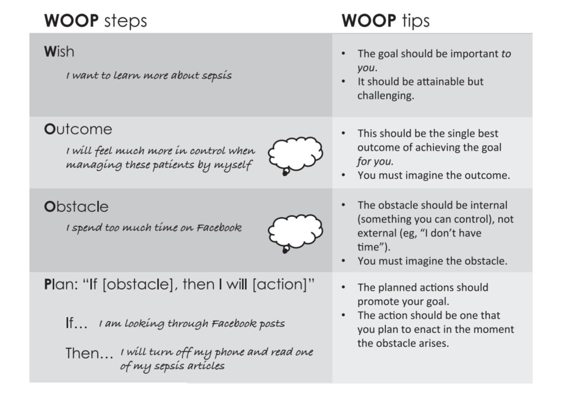 WOOPの法則 例 論文