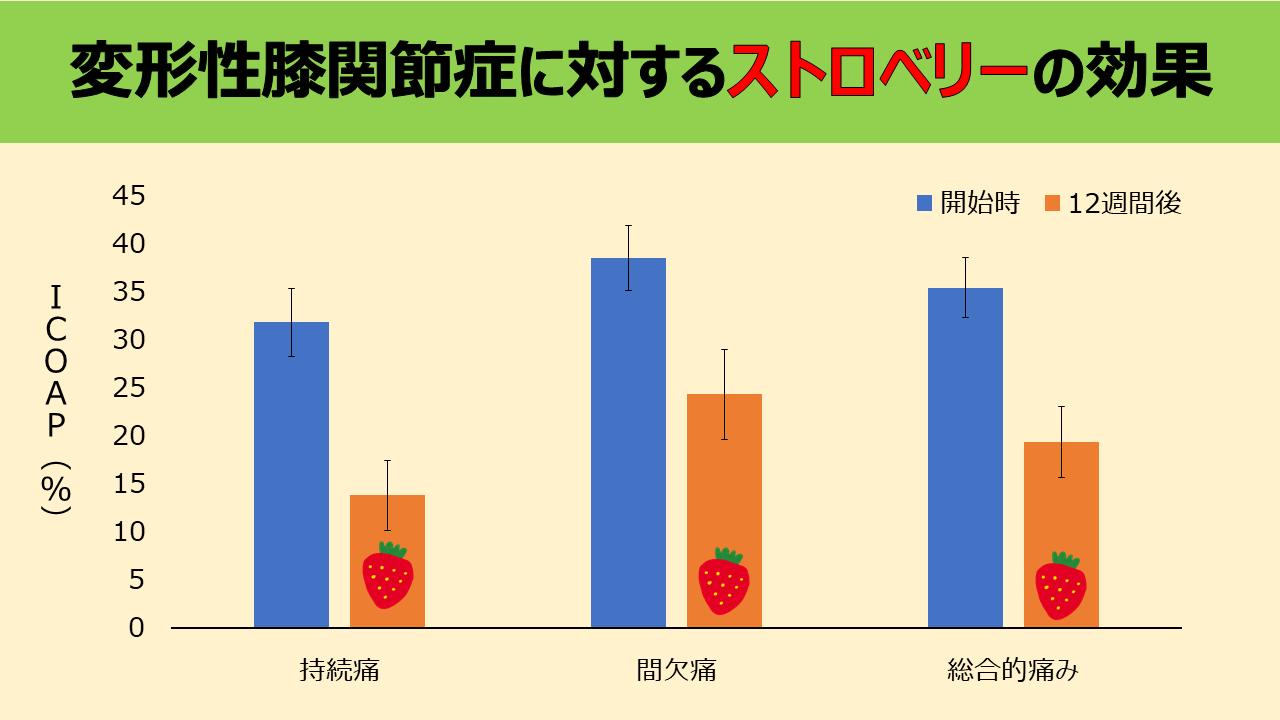 イチゴ 変形性膝関節症 保存療法 栄養